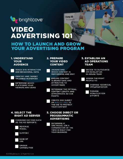 Video-Advertising-101-Checklist